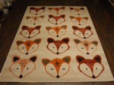 Modern Approx 6x4ft 120x170cm Woven Backed Fox Rug Sale Top Quality Creams/Terra